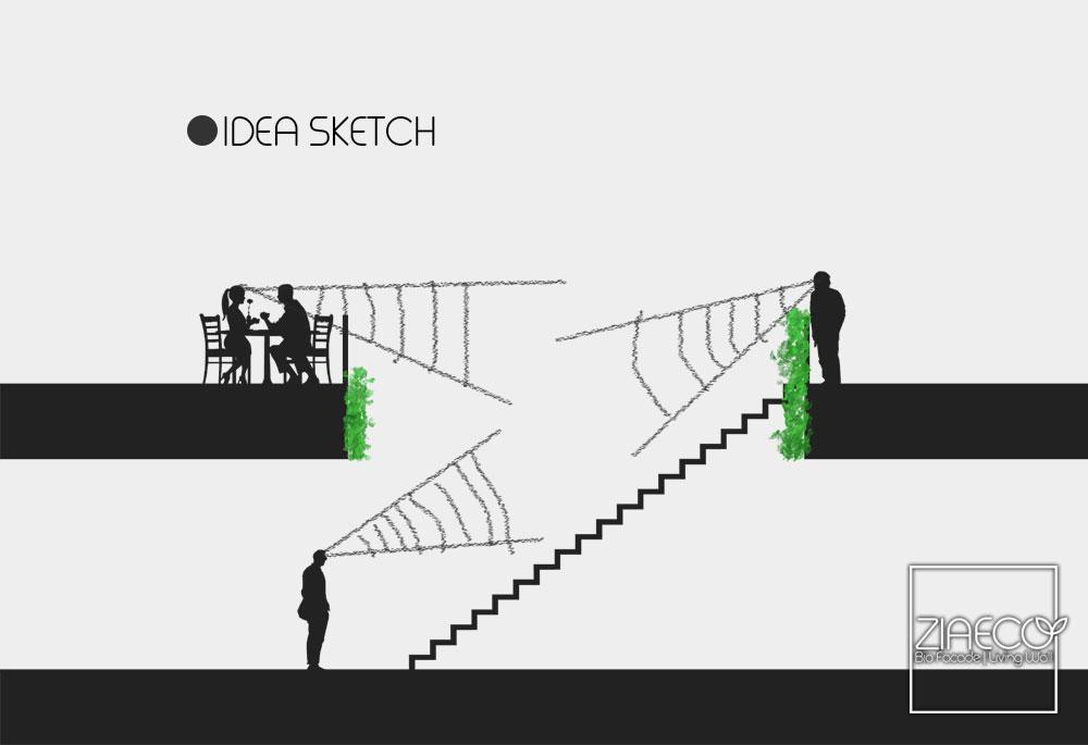 دیوار سبز رویال | دیوار سبز | نمای سبز | هیدروپونیک | ziaeco
