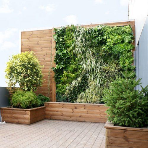 دیوار سبز هیدروپونیک باجناق | طراحی و اجرا توسط ziaeco | گیرین وال
